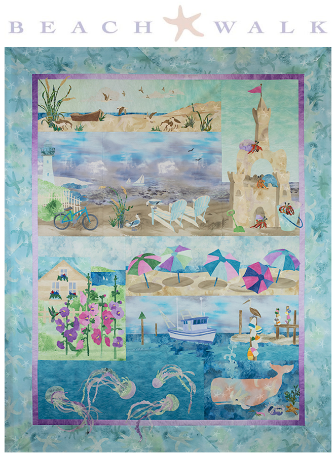 Coastal Quilts   Nautical & Beach Themed Applique Patterns : ocean themed quilt patterns - Adamdwight.com