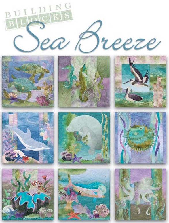 *NEW* from Pine Needle Patterns SNOOTY SISTERS SEA BREEZE ART PRINT PANEL