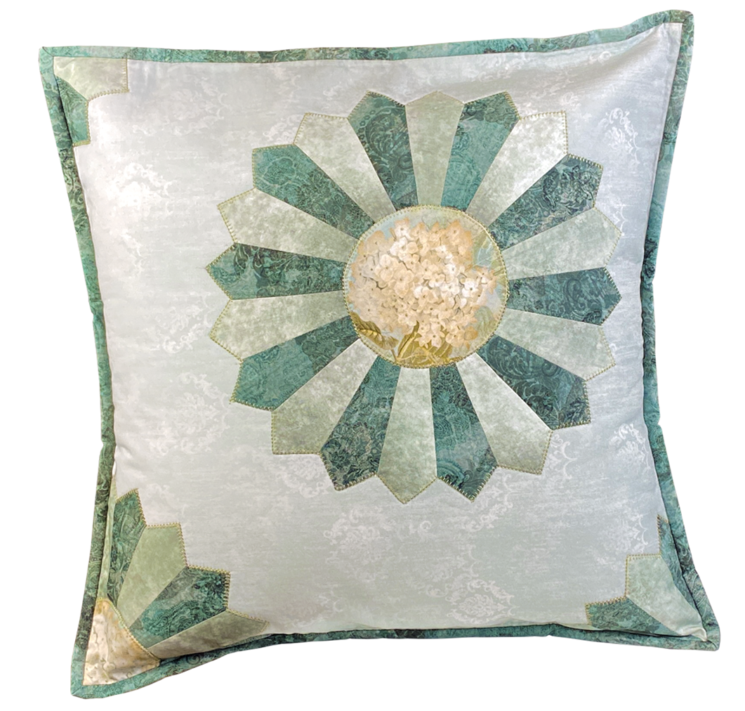 Dresden Plate Square Pillow