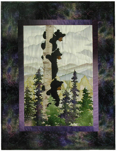 Bear Up There Applique Pattern